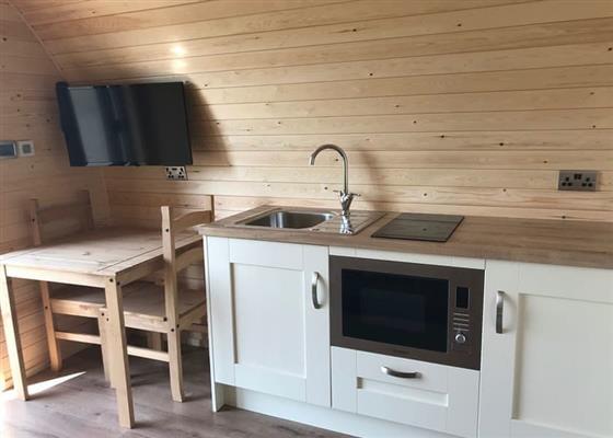 Woodpecker Pods at Bron Eifion Lodges, Criccieth